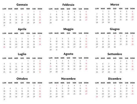 Base calendario italiano con festività 2011