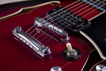 Closeup sur guitare