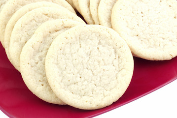 Sugar Cookies on Red Plate