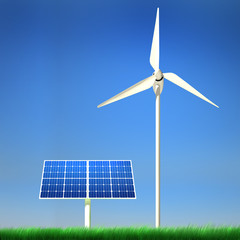 Alternative Renewable Energy - Solar Panel & Wind Power