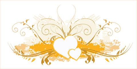 love in Floral design pattern