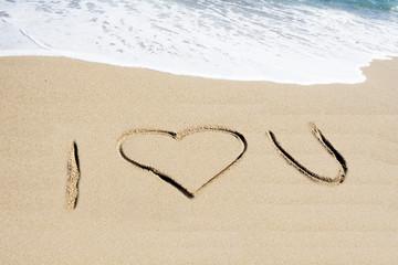 I love you im Sand