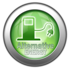 "Glossy 3D effect button ""Alternative Fuel"""