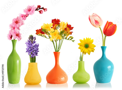 Spring Flowers In Vases Stock Photo And Royalty Free Images On
