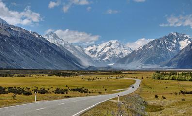 Canvas Prints New Zealand Route du Mont Cook - New Zealand