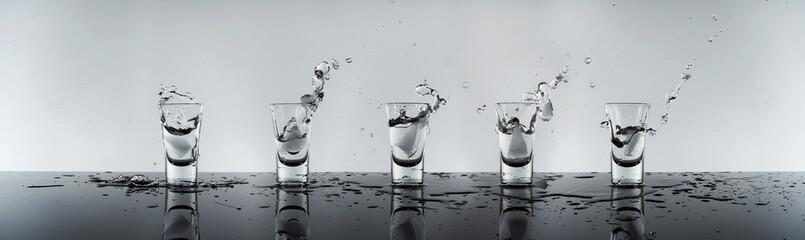 shot of alcohol, vodka Russian