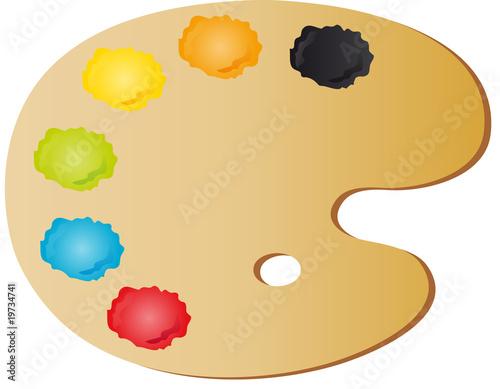 Farby paleta malarska zdj stockowych i obraz w - Paleta de colores valentine ...