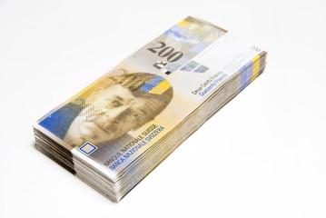 Schweizer Franken, Geldstapel