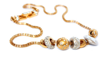 golden feminine jewelry