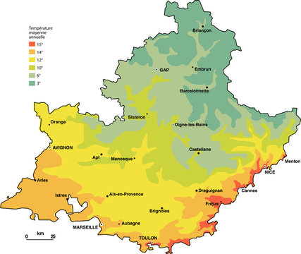 carte climat Paca