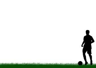Fußballspieler auf Rasen