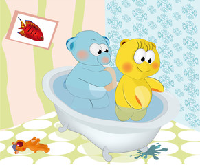 About love or as the bear washed a bear