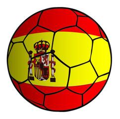 balón de fútbol bandera española