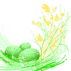 Obraz Easter green eggs - fototapety do salonu