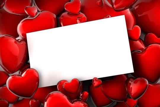 carte à coeurs