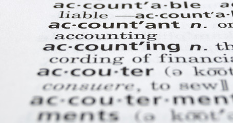 Accountant Defined on Black