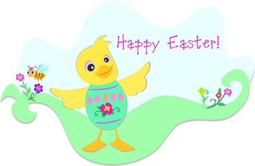 Easter Duck and Bee