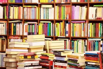 Photo Blinds Library Library, Bücherwand, Buchgeschäft, Buchladen, Spanien