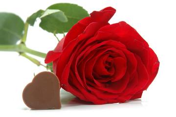 Rosas y chocolate