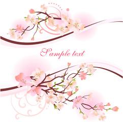 Blossoming tree design element