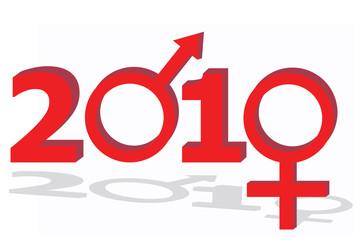 Year 2010 with sex symbols