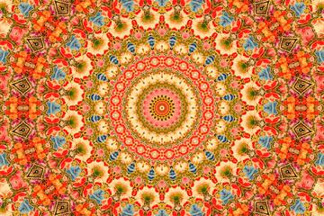Kaleidoscope:  flowers background - Kashmiri style