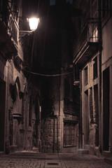 Keuken foto achterwand Smal steegje An alley by night