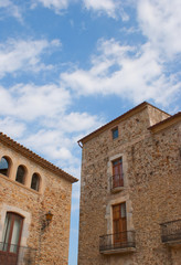 Typical stone buildings of Catalunya