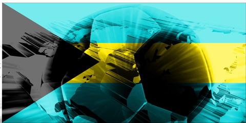 Flag of Bahamas soccer