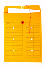 Yellow interoffice envelope