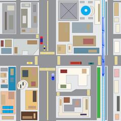 Foto op Plexiglas Op straat town2d