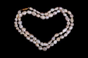 Pearl necklace heart