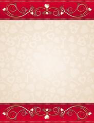 beige valentine background