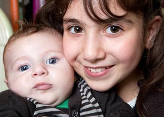 Portrait de deux enfants