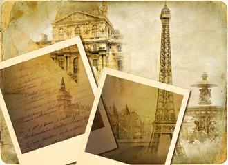 Wall Mural - parisian vintage photoalbum
