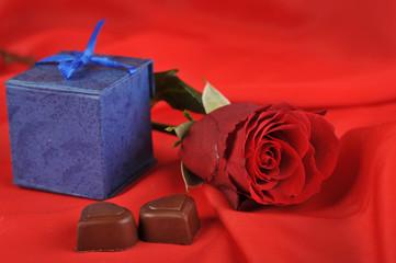 gift and chocolate