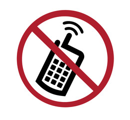 sign - no cell phones