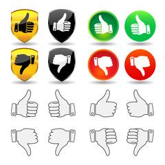 Hand Gesture - Set 1 - Thumbs