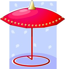 Illustration of umbrella with design work