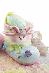 Easter Bunny Container with Eggs