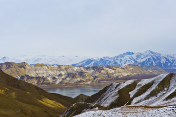 "Reservoir of electricity station ""Toktogul"" in Kyrgyzstan"