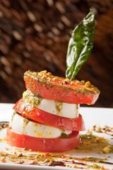 Ensalada Caprese Tomate y Queso Mozzarela