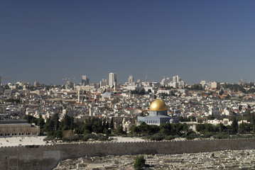 The Temple Mount from Mount of Olives Jerusalem