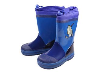 blue rubber boot
