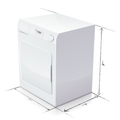 Dimension d'un sèche-linge (reflet)