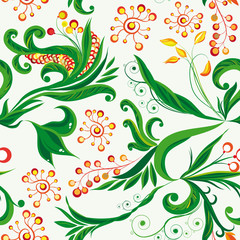 fairy seamless floral background