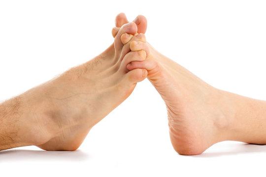Feet couple - love abstract