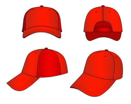 Red cap vector illustration isolated on white