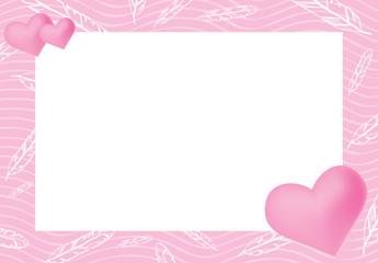 Vector illustration of pink frame