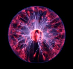 Colorful plasma ball